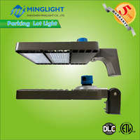 DLC ETL slip fitter 200w led area shoe box light led parking lot light pole light