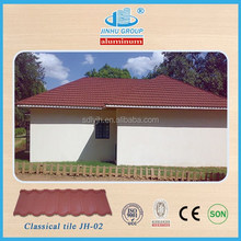 high quality cheap price stone coated metal roof tile for construction building material in Chile
