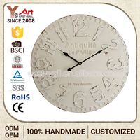 Factory Direct Price Interior Home Decoration Mdf Miniature Golf Citizen Wall Clock