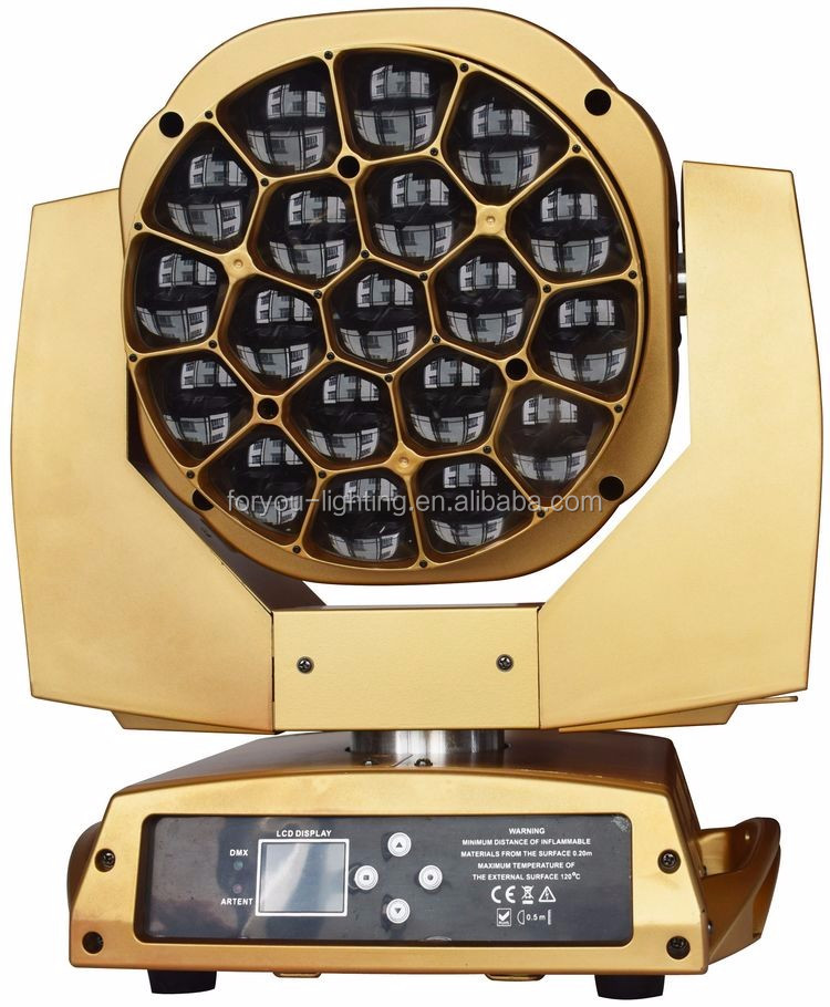 Beam Wash Zoom 3in1 19x15Watt 4-IN-1 Bee Hives LED Moving Head Light ( Golden )-2.jpg