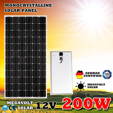 200W 12V Caravan Camping Power Charging MONO ETFE Flexible Solar Panel
