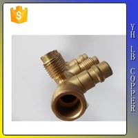"1/4"" Inverted Flare Union Brass Brake Line Adapter Fitting"