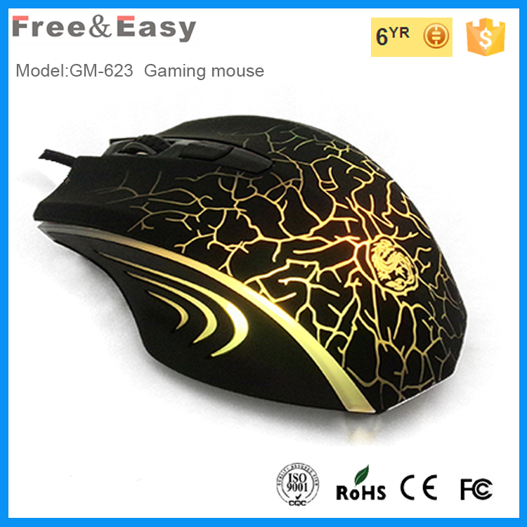 Custom logo gamer mouse with 3000 dpi