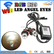 Fast Shipping for BMW WIFI RGB E39 LED Angel Eye WIFI phone APP control color change LED Car Accessories