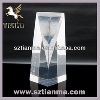 Customized shaped crystal blank trophy