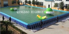 PVC tarpaulin and frame rectangle outdoor swiming pool above ground 50m