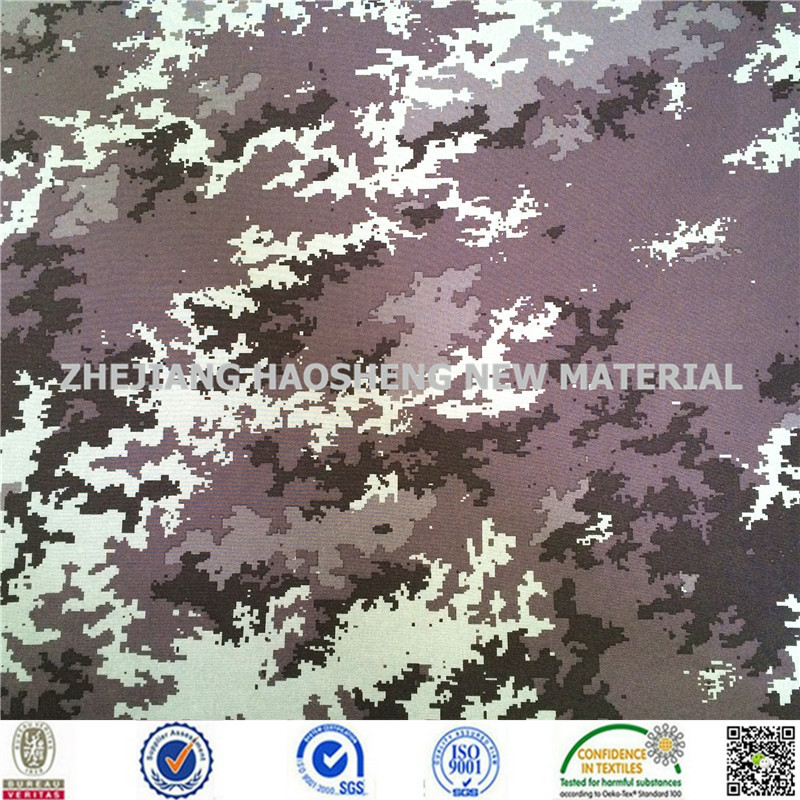 100%Polyester Waterproof Printed Camo Brushed Fabric for Military/Army Shoes/Garment