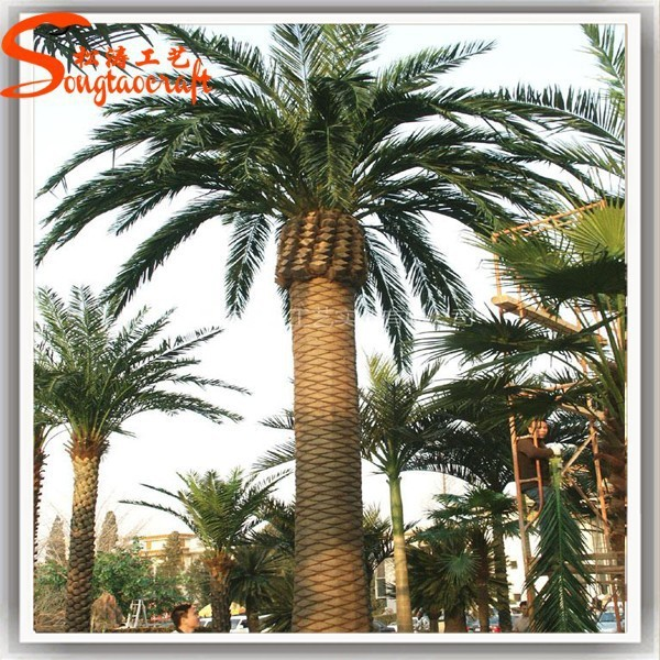 2016 big ornaments indoor plants artificial date palm tree realistic steel plam tree