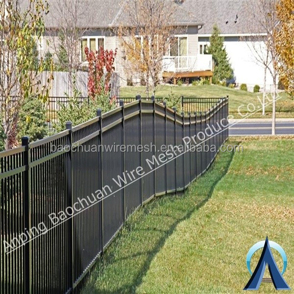 Security galvanized steel powder coating dog garden fence
