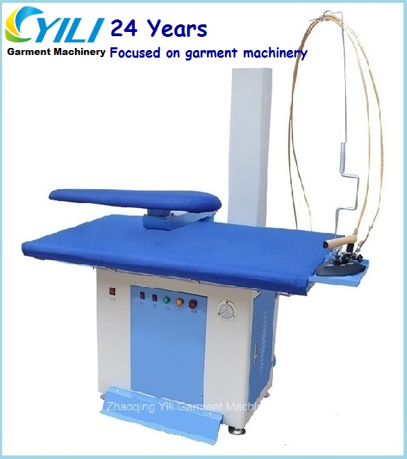 Commercial ironing board with built-in steam generator/Laundry vacuum pressing machine