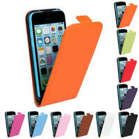 Wholesale Up and Down Leather Vertical Flip Case For iPhone 5c