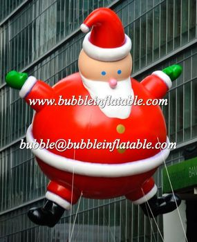 6M High inflatable Santa Claus helium balloons hot sale for Christmas