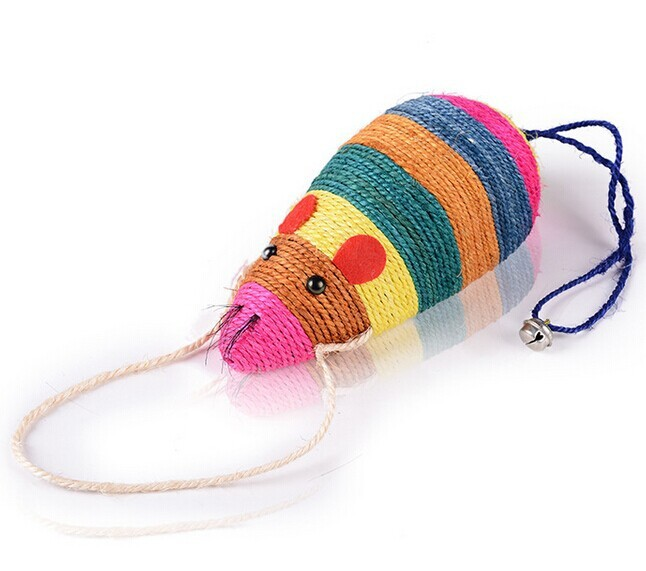 Factory price Vivid striped mouse shaped cat toy
