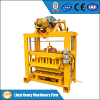 QTJ4-40 newest manual vibrating laying egg mobile cement hollow block making machine