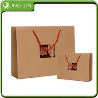 Brown cheap shopping kraft paper bag supplier