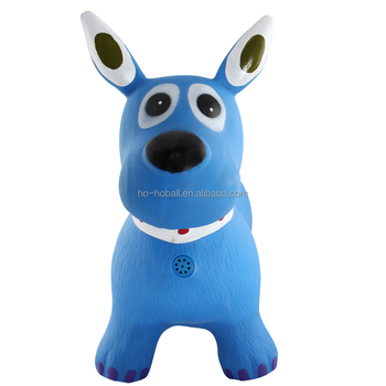 PVC inflatable toy kids jumping animal toy