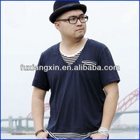 Fashion Men V Neck Design Plus Size T-shirts