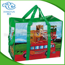 Wholesale customized cheaper recycled Pp woven bag printing / pp woven shopping bag / packaging pp woven bag with handle""