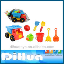 9 Pieces Beach Toy Truck with 4PCS Mini Sand Tools,1PCS Sand Mold,1PCS Bucket and 1PCS Garden Shower
