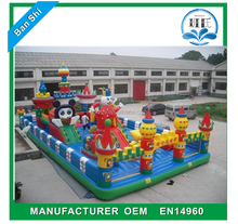 China factory excellent quality inflatable park inflatable fun city with slide