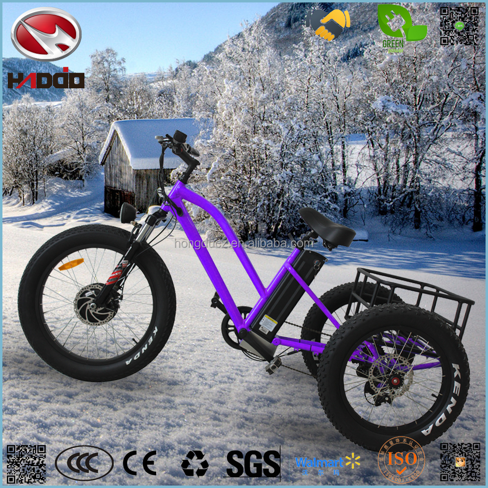 Fat tire 3 wheel suspension electric motorcycle