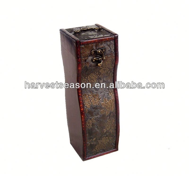 100% direct factory wholesale wooden wine boxes