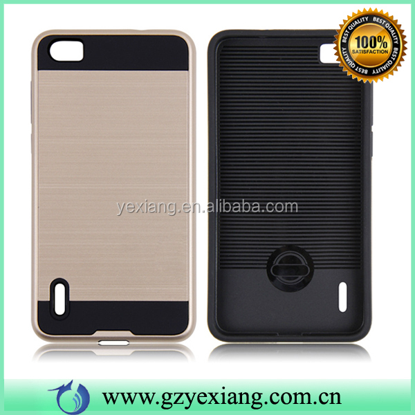 Brushed Skin Back Case Cover For Huawei Honor 6 Plus Hybrid Armor Case