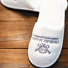 Personalized White Disposable Hotel Slippers High