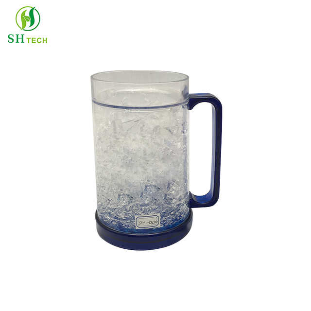 Double Wall Freezer Beer Mug Crystal Plastic Cup