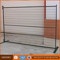 Shengwei fence - Powder coated hot galvanized movable 6ft temporary fence barricade