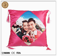 Personalized square shaped photo cushion/2015 New Arrive Fashion Pillow Sublimation Bulk Pillow Cases