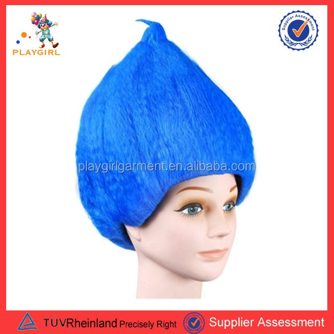 Cheap colorful trolls kids cosplay party wigs PGWG1931