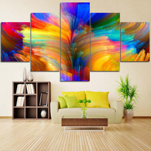 5panels group stretched wall hanging stretched canvas photo art print printed printing