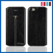 C&T Pu Leather Magnetic Closure Card Packet Kick Stand Wallet Case Cover for Apple Iphone 6s & Iphone 6