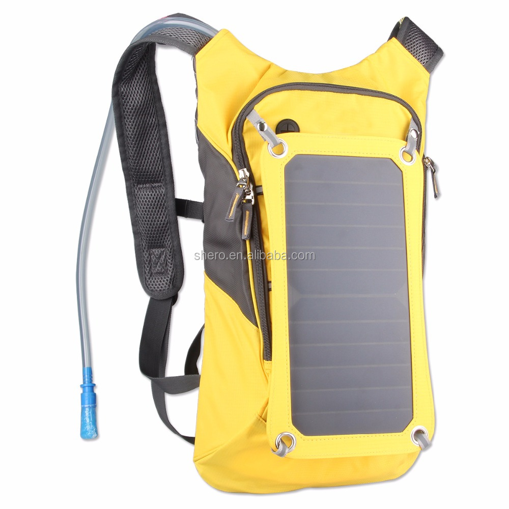 Cheap Outdoor Solar Charger Backpack For Hiking and Camping solar Bicycle power bag