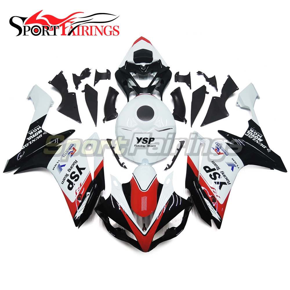 ABS Injection <strong>Fairings</strong> For Yamaha YZF <strong>R1</strong> 07 <strong>08</strong> Plastic Injection Motorcycle Kit Body Kits YSP White Black Covers