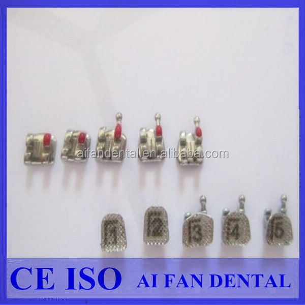 [ AiFan Dental ] New Products Stainless Steel ROTH 022 slot 3-4-5 hooks dental brackets With Numbers