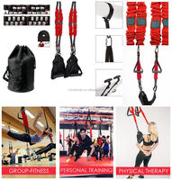 Aerial Dance Workout Bungee Trainer Suspension Straps Body Building Workout Elastic Sling Kit
