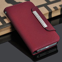 classical perfect real leather cases for iphone 5, women wallet leather case for iphone 5