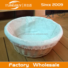 Manual Willow Bread Display Basket With Neat Liner