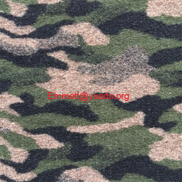 green black tan color camouflage jacquard boiled wool knit fabric