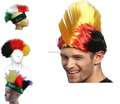 Factory direct sell Germany football wig soccer fans wig supporter headband wig