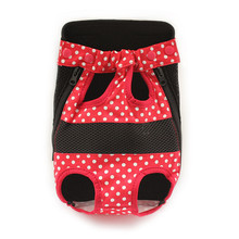 Dots Pattern Grid Dog Bag Comfortable Chest Front Bag Pet Five Holes Backpack
