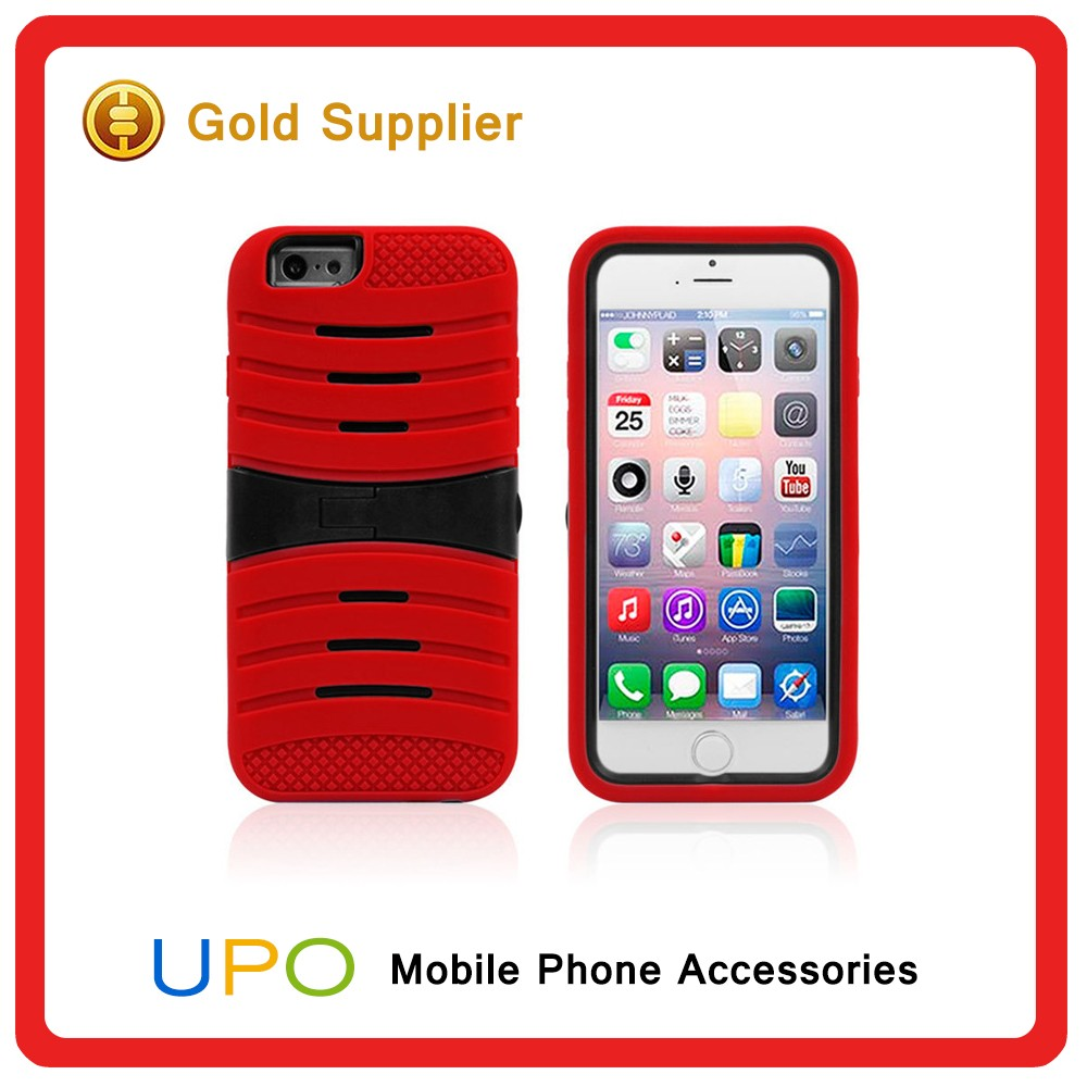 [UPO] High Quality Power Ripple PC Silicone Combo Cell Phone Case for iPhone 6 with Kickstand