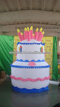 2013 new inflatable birthday cake with Led