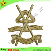 Die Struck / Stamped Brass Gold Plating Lapel Pins With Wholesale Price
