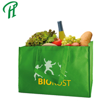 Large Capacity Recycle Non Woven Material Logo Printed Handle Tote Bag