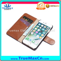 Promotion Mobile Phone Cowhide Case Lychee Leather Pattern Cover vs Card Holder for iPhone 6 6S 7 Plus