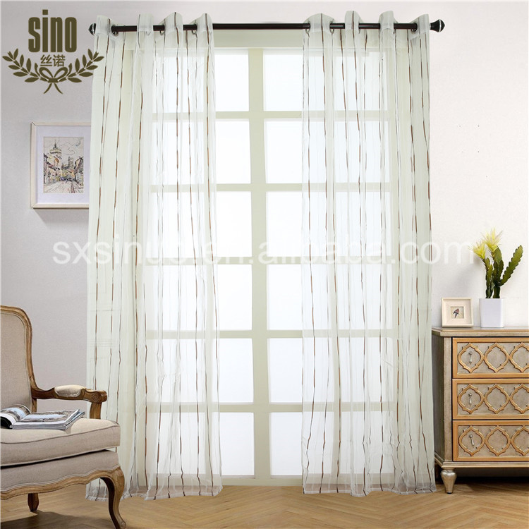 Home Decorative light weight organza curtain