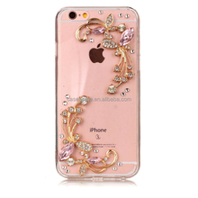 For samsung galaxy S8 s8 plus DIY phone case customized diamond crystal TPU/Silicone/PC phone case for iPhone 6 7 plus